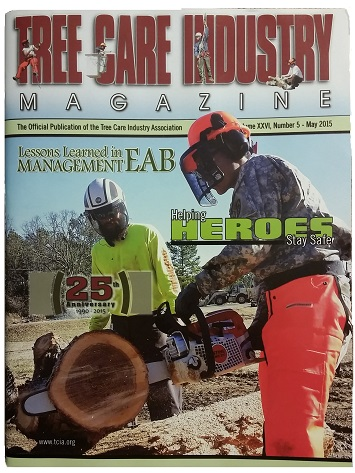 Arbormax tree Service on the cover of TCI magazine