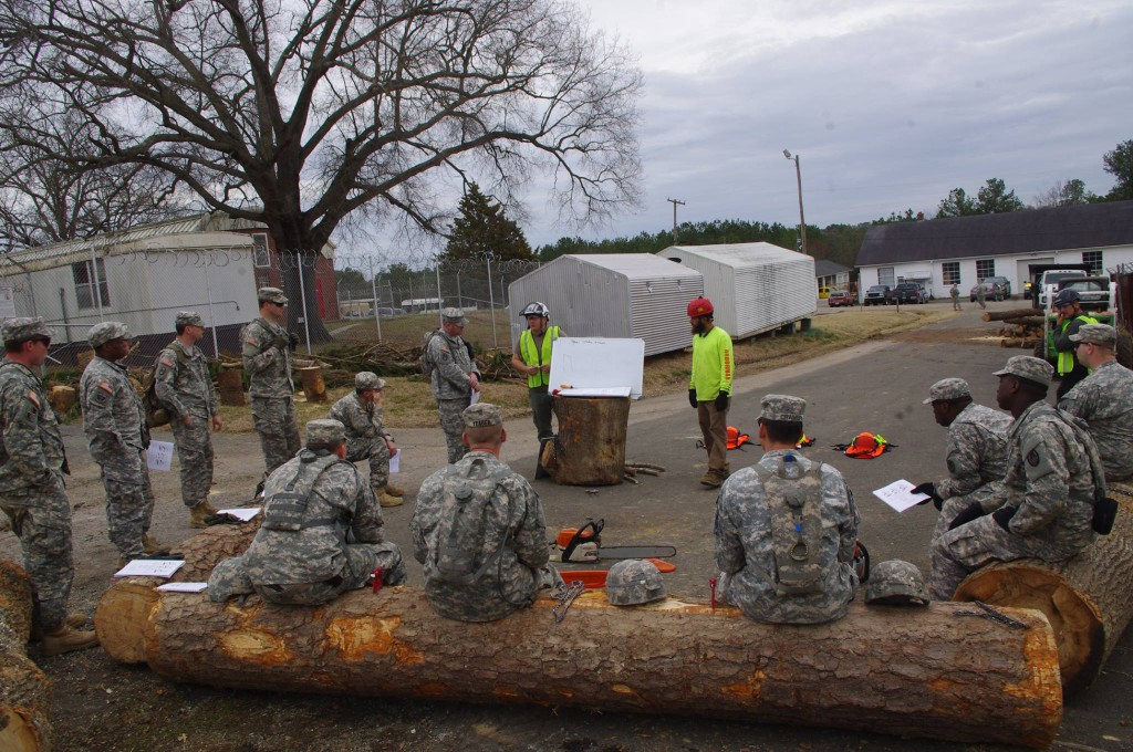 Arbormax tree service trains the national guard