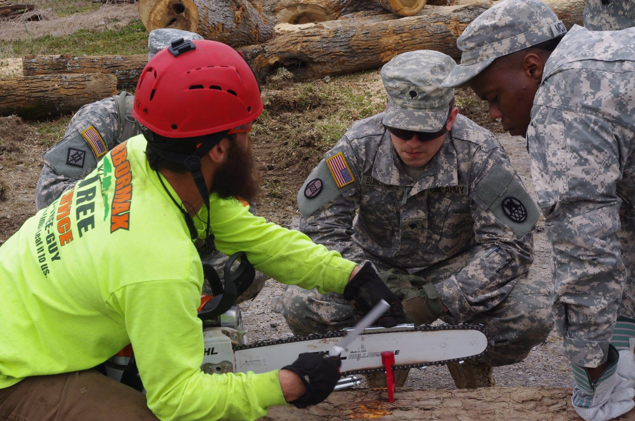 raleigh tree removal service trains national guard